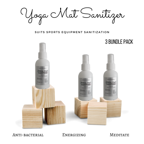 Yoga Sanitizer Pack (3 in a Pack - Anti-bacterial, Energizing and Meditate)