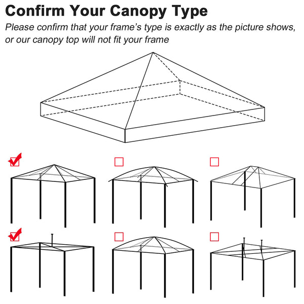 InstaHibit Canopy Replacement Top 10x10 CPAI-84