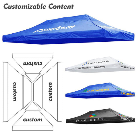 InstaHibit Custom Canopy Top 300D 10x15 ft