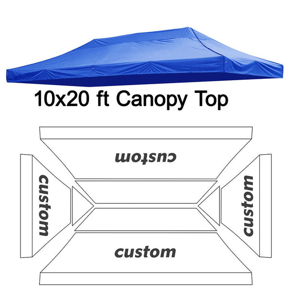 InstaHibit Custom Canopy Top 300D 10x20 ft
