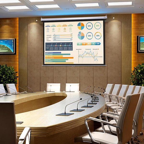 "Instahibit Screens Manual Series 72"" 4:3 Front Screen Wall/Ceiling"