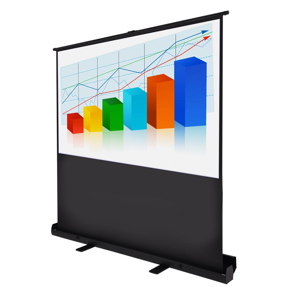 "Instahibit Screens 60"" 4:3 Portable Pop Up Projector Screen Floor"