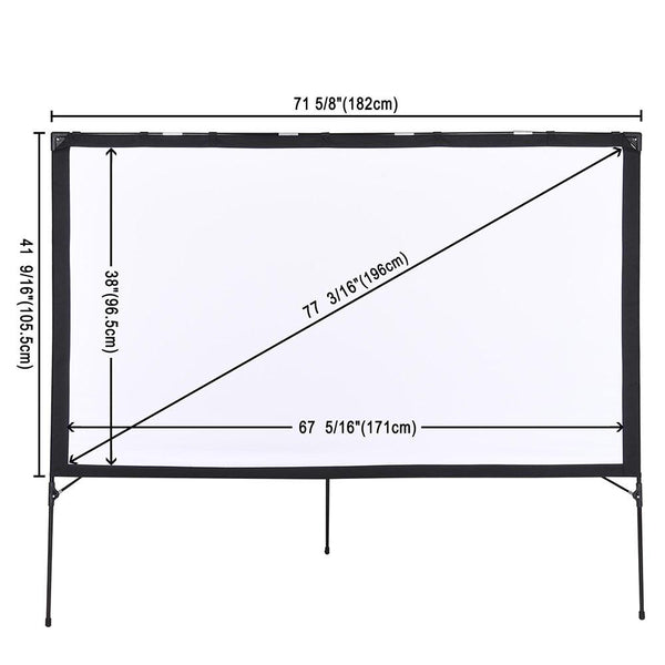 "Instahibit Screens Outdoor Movie Series 77"" 16:9 Front Screen & Frame"