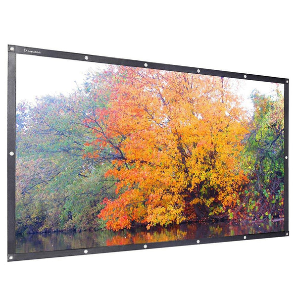 "Instahibit Screens 84"" 16:9 Front Projection Screen PVC Leather"