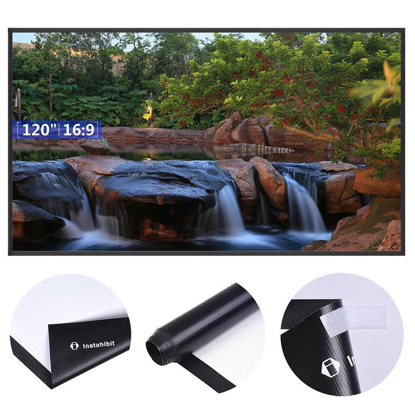 "Instahibit Screens 120"" 16:9 Front Projection Screen Matte White"