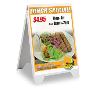 Instahibit Signage A-Frame Sandwich Sign Board for 19x32 Poster