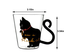 Load image into Gallery viewer, Cat Coffee Mug With Tail Handle
