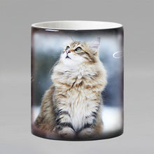 Load image into Gallery viewer, Heat Reveal Ceramic Cat Coffee Mug