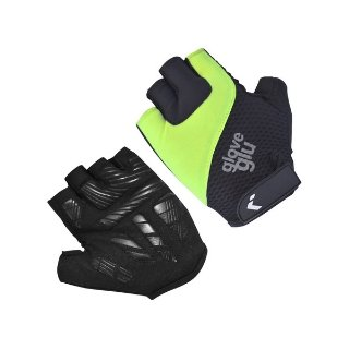 GG GEL RIDE HALF FINGER CYCLE GLOVES (BLACK/FLUO YELLOW)