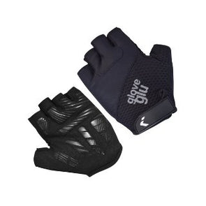GG GEL RIDE HALF FINGER CYCLE GLOVES (BLACK/BLACK)