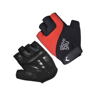 GG GEL RIDE HALF FINGER CYCLE GLOVES (BLACK/RED)