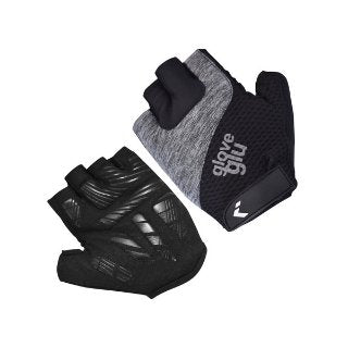GG GEL RIDE HALF FINGER CYCLE GLOVES (BLACK/GREY MARL)