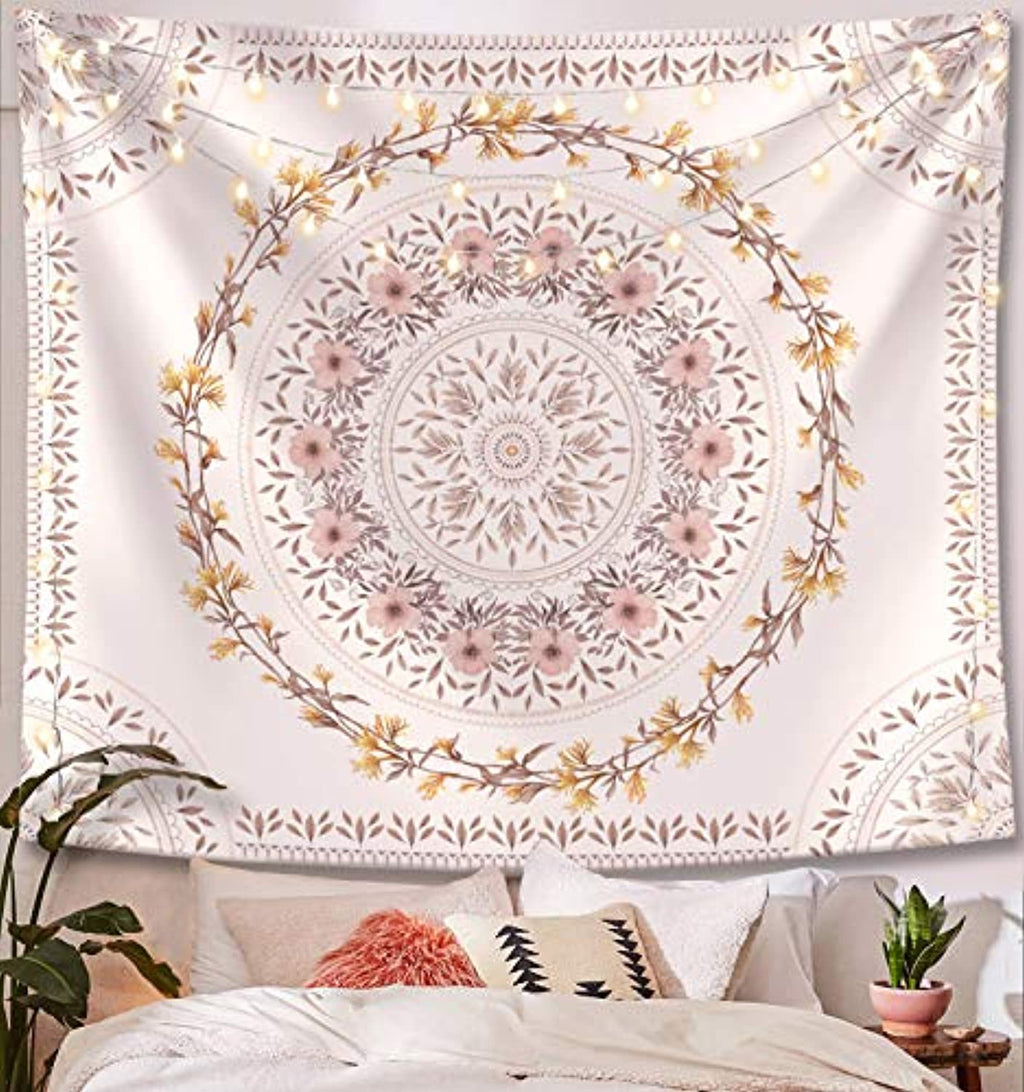 White Floral Tapestry - dormcy