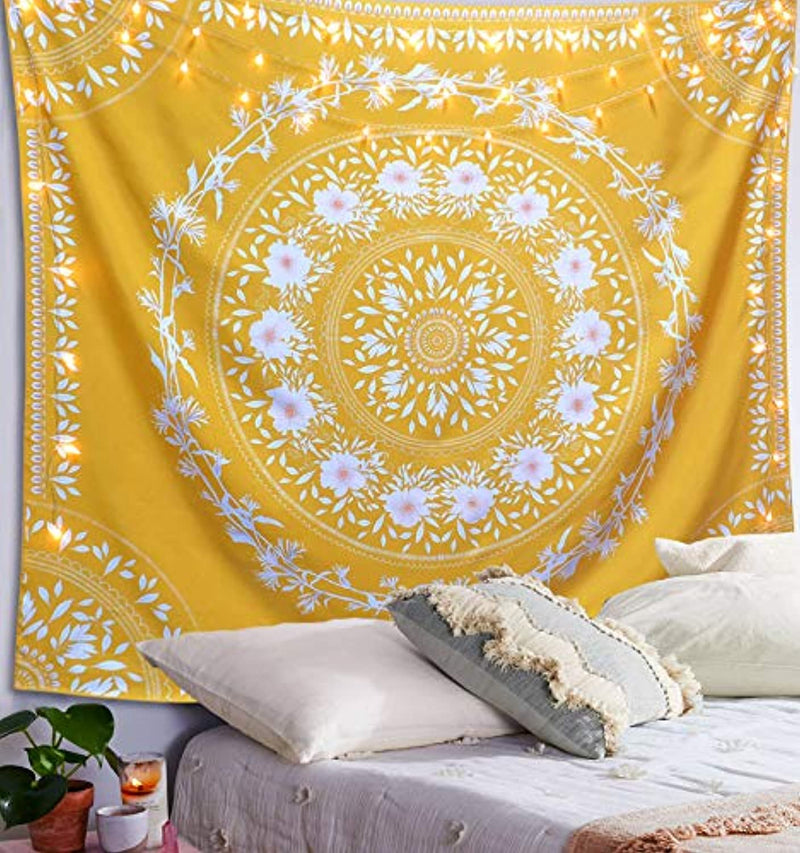 Yellow Floral Tapestry - dormcy