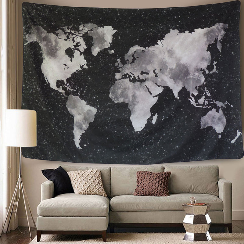Galaxy World Map Tapestry - dormcy