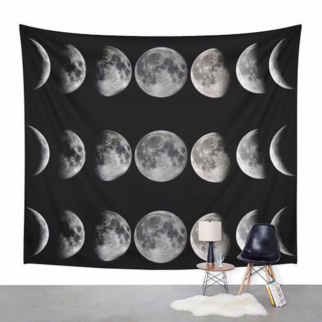 Moon Phases Tapestry - dormcy