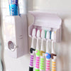 Automatic Touch Toothpaste Dispenser Brush Holder Set - White