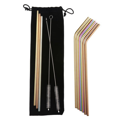 Colorful steel drinking straws