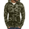 New Hoodie Men Camouflage Printing Flannel Hip Hop