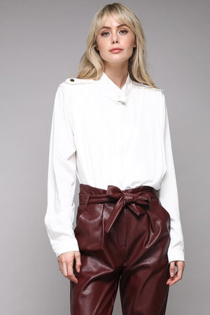 Like a Boss Gold Accent Blouse