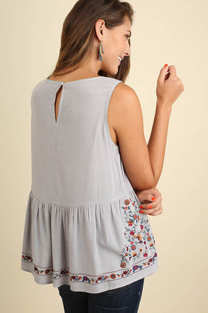 Peplum in Your Step Embroidered Top