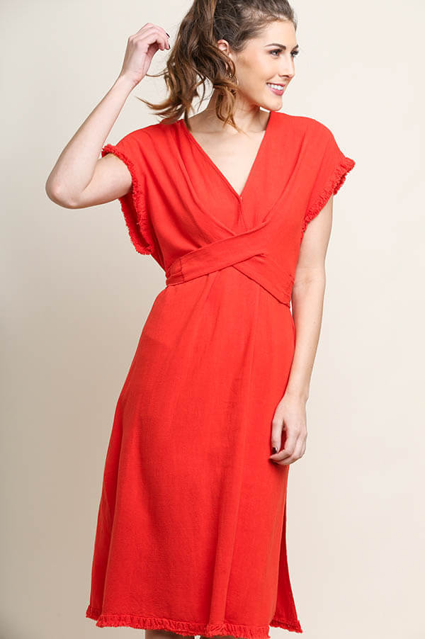 Hot Date Wrap Midi Dress
