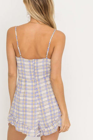 Taste the Rainbow Grid Romper