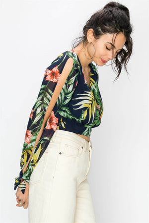 Tropic Like It's Hot Crop Top