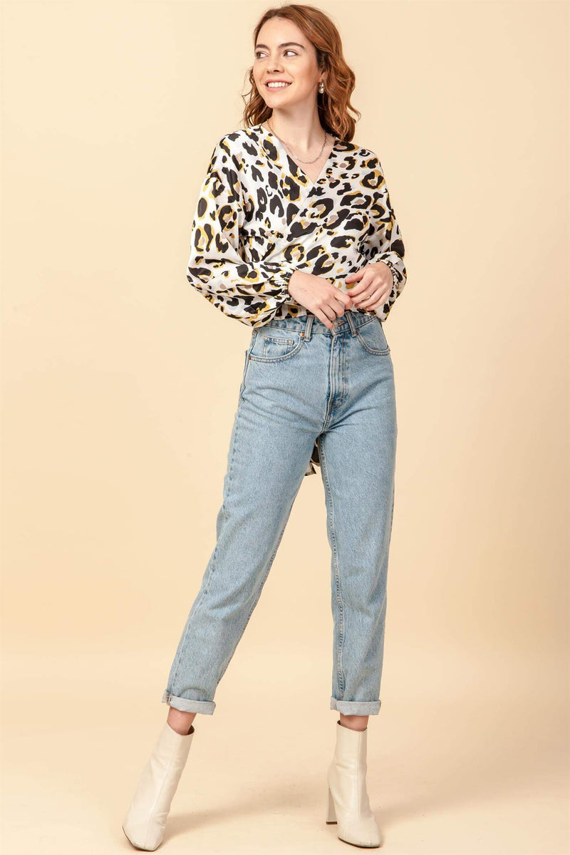 We're a Little Wild Wrap Blouse