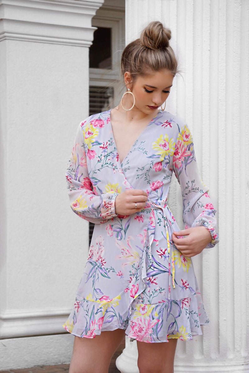 Read My Tulips Wrap Dress