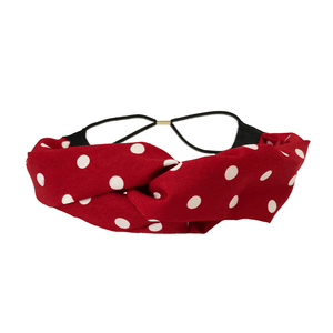 Red and White Polka Dot Twist Turban Headbands Of Hope