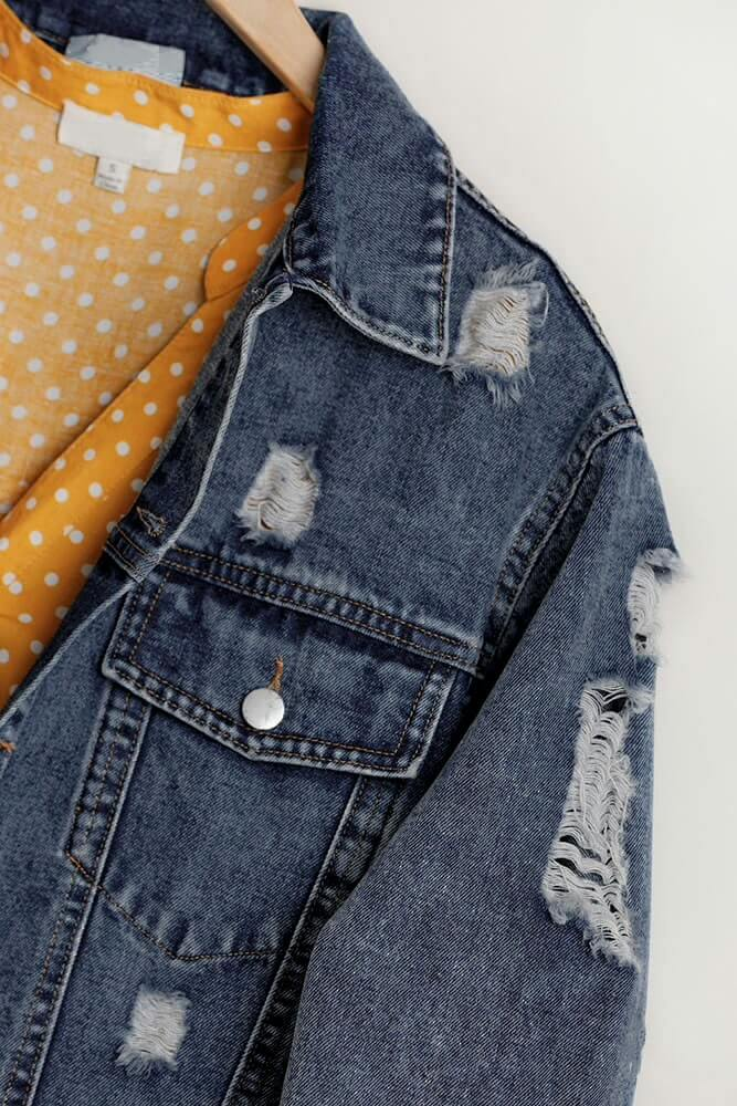 Rip 'Em Off Denim Trucker Jacket