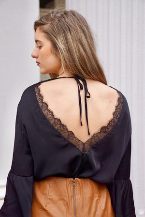 Open Back Blouse
