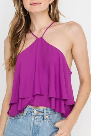 Zip It Up Ruffle Top