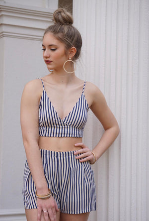 pinstripe top set for women