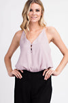 Rosebud Button Front Cami Top