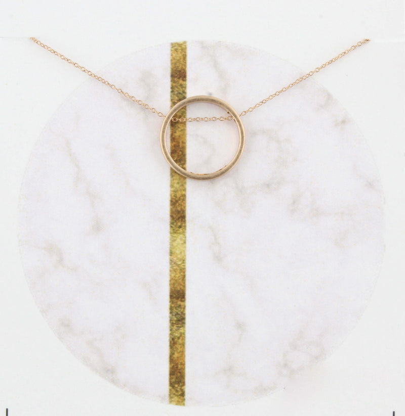 Gold Moon Circle Necklace