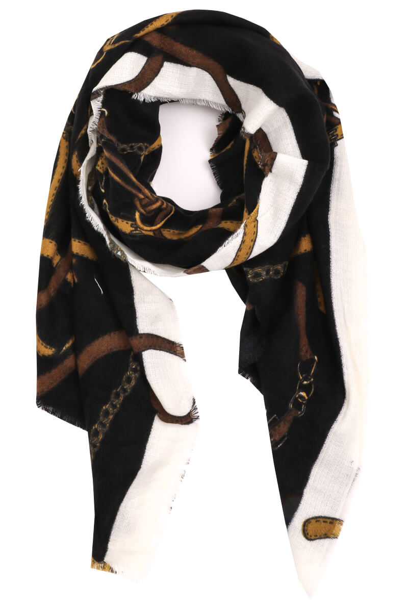 Plain Chain Oversized Scarf
