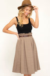 Can't Get Enough Paper-Bag Midi Skirt