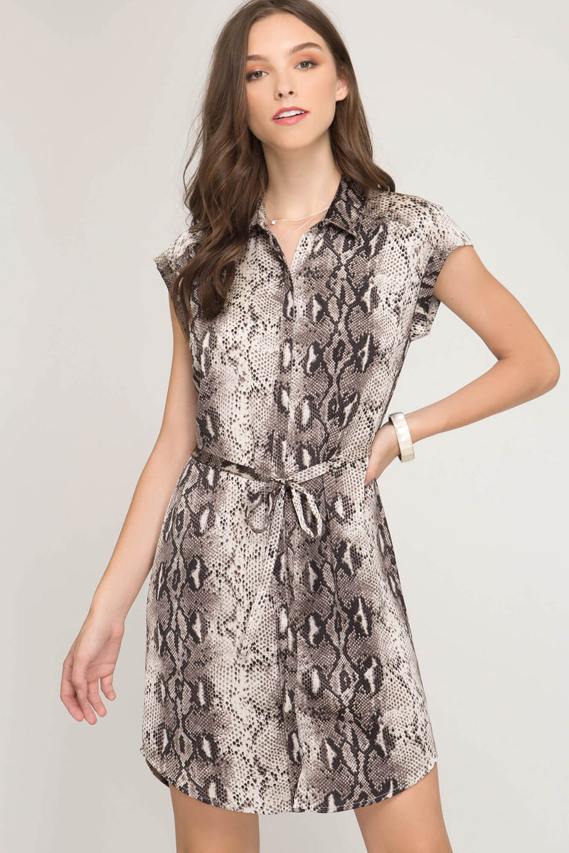 Talking Snake Satin Dress