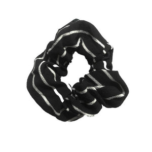 Black and White Stripe Scrunchie Headbands Of Hope
