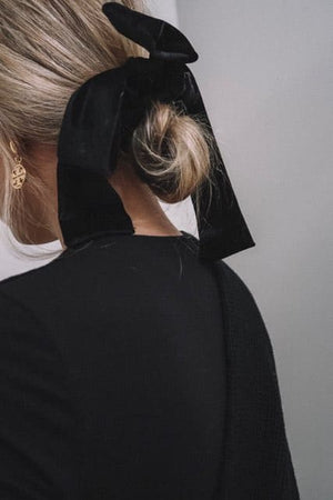 Black Velvet Bow Scrunchie Headbands Of Hope