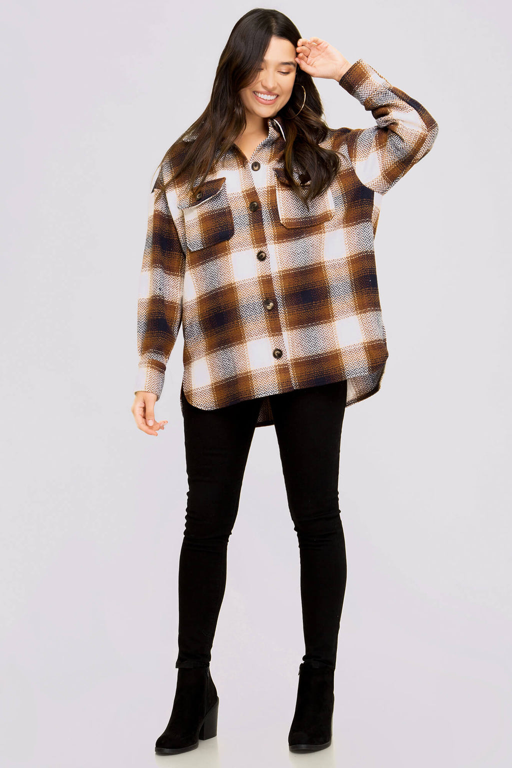 Channel the Flannel Oversized Jacket