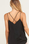 Laced v-neck cross back Camisole Top