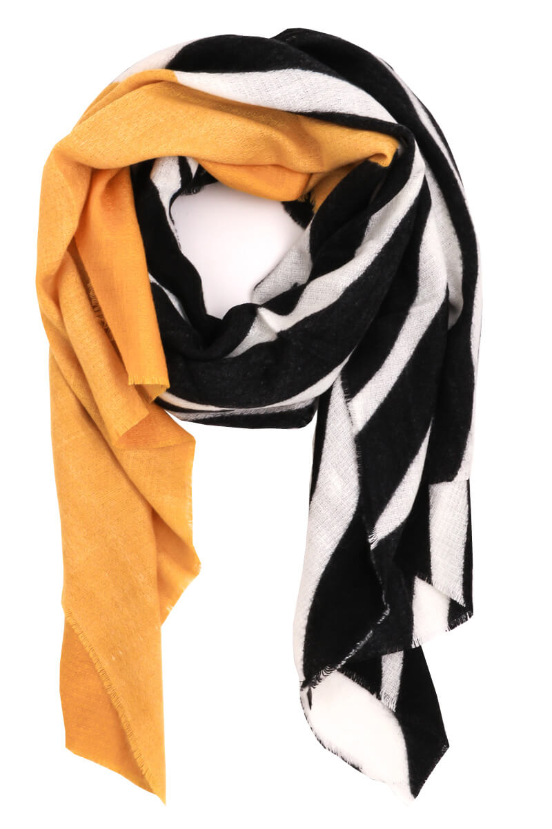 Wild Side Color Block Scarf