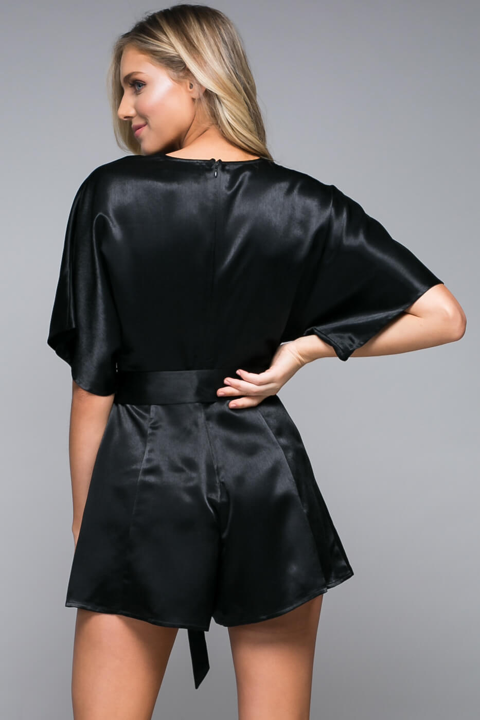 Black Widow Tie Romper
