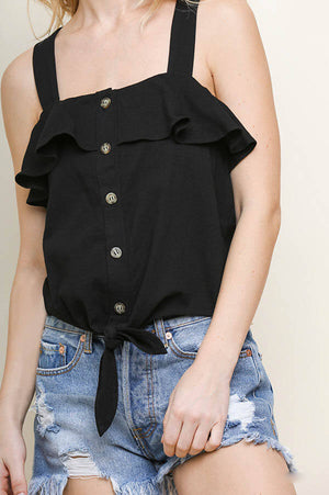 Ready or Not Black Crop Top