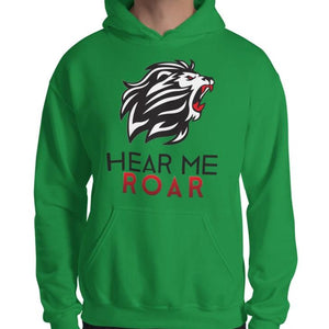 Hear Me Roar Hoodie (White/Green)