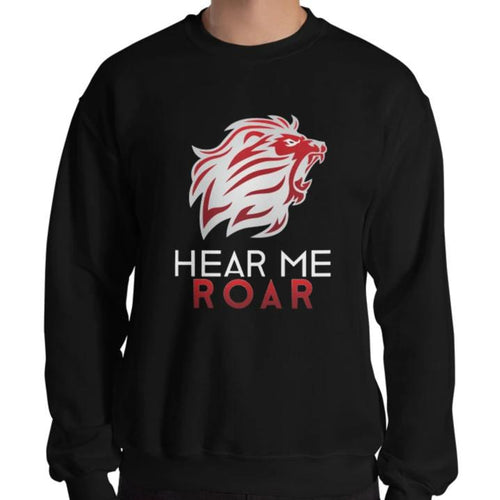 Hear Me Roar Sweatshirt (Black/Navy)