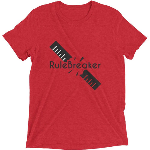 Rule Breaker short sleeve t-shirt (Red)